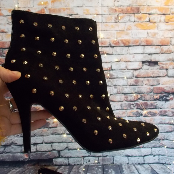 8240fe6eb4e3 Forever 21 Shoes - Forever 21   black and gold studded booties